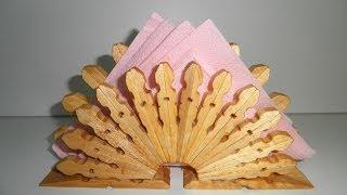 getlinkyoutube.com-servilletero de pinzas de madera tutorial / wooden pegs napkin tutorial