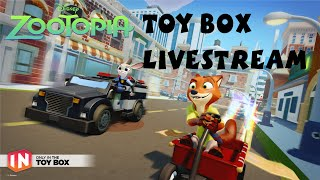 getlinkyoutube.com-Disney Infinity Zootopia Judy Hopps / Nick Wilde Gameplay Livestream & Power Discs