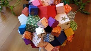 getlinkyoutube.com-Origami ♣ Columbus Cube ♣