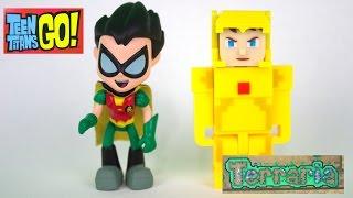 getlinkyoutube.com-Teen Titans Go! and Terraria Figures!