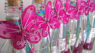 """getlinkyoutube.com-Invitación en botella para quinceañera """"Ilusión"""""""