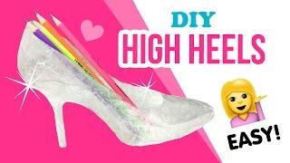 getlinkyoutube.com-DIY Transparent High Heels!!! Make Budget Perspex Boots XD!!