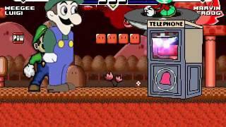 getlinkyoutube.com-Weegee & Luigi vs Marvin & Underdog MUGEN Battle!!!