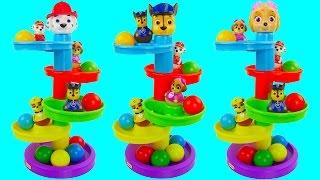 getlinkyoutube.com-Learn Colors Paw Patrol Play Doh Maze Cars Vehicle Molds Creative Fun for Kids Compilation Tayo Bus