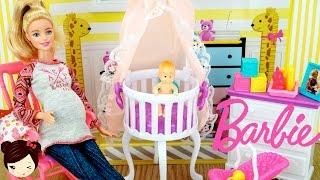 getlinkyoutube.com-El Cuarto de la Bebe de Barbie y Ken - Guarderia de Barbie Embarazada