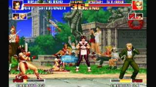 getlinkyoutube.com-King of Fighters 94, Mai, King, Yuri vs themselves