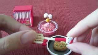 "getlinkyoutube.com-Sanrio x Re-ment Hello Kitty ""I Love Cooking"" Set"
