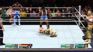 getlinkyoutube.com-WWE 2K16 Gameplay - New Day vs. Lucha Dragons
