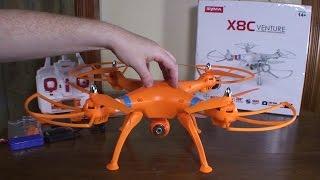 getlinkyoutube.com-Syma - X8C Venture - Review and Flight