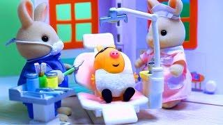 getlinkyoutube.com-Peppa Pig. Свинка Пеппа. Мультфильм с игрушками. Зубной кабинет доктора Зайца .