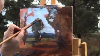"""getlinkyoutube.com-""""Barrow Road"""", plein air oil painting by Andy Dolphin"""
