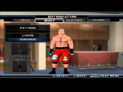 SVR 11 BROCK LESNAR CAW FORMULA PS2 HD