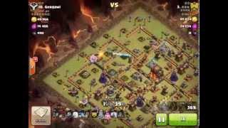 getlinkyoutube.com-Clash of Clans TH10 3 Star War Strategy - 5 Lightning Spells + 1 Earthquake Spell