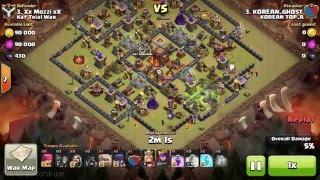getlinkyoutube.com-10홀 국민맵 4골페위 투쩜벽작업 Clash of clans - Town hall 10 (th10) war 4 GOPEWI
