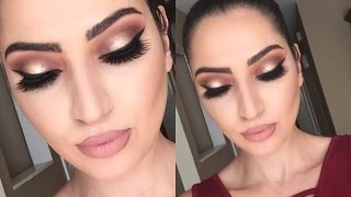 getlinkyoutube.com-Holiday Look: Thanksgiving Makeup Tutorial | Cranberry & Gold |