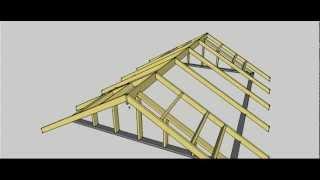 getlinkyoutube.com-Gable Roof Erection Procedure