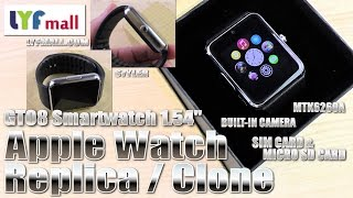 getlinkyoutube.com-Apple Watch alternative? (Hands-on/Unboxing) GT08 Smartwatch, Cam, SIM & MicroSD