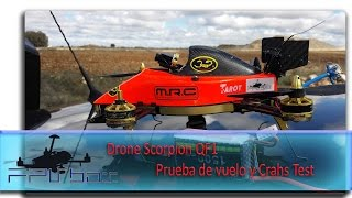 getlinkyoutube.com-Drone Scorpion QF1 Prueba de vuelo y Crahs Test