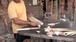 how a cricket bat is made in india