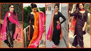 latest black patiala salwar kameez suit designs || Punjabi black patiala suit designs || black suit