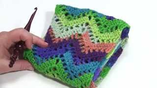 getlinkyoutube.com-How to Crochet: Chevron Lace Infinity Scarf (Left Handed)