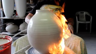getlinkyoutube.com-Pottery FlameThrowing by BillPowell