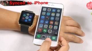 getlinkyoutube.com-iRadish Y6 HD Display Bluetooth GSM Mobile Phone Smart Watch Edition or For Apple iOS & Android OS