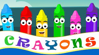 getlinkyoutube.com-Crayons Nursery Rhymes | Crayon Color Song For Kid Songs | Nursery Rhymes