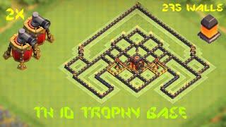 getlinkyoutube.com-2015 NEW Th10 trophy base /275 walls+replays
