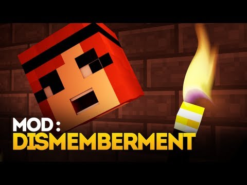 Minecraft Mod Spotlight: Dismemberment Mod (CUT OFF HEADS!) (1.4.7)