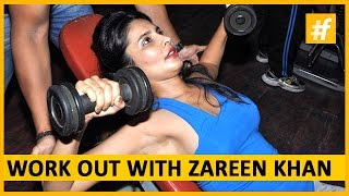 getlinkyoutube.com-Jab We Met Zareen Khan - Workout Session | #fame Bollywood