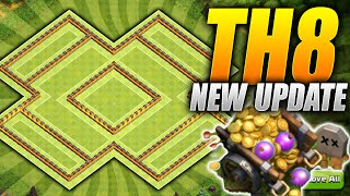 Clash of Clans – Anti TWO Star TH8 Hybrid BASE! NEW Loot Cart Update! (CoC Town hall 8 Farming Base)