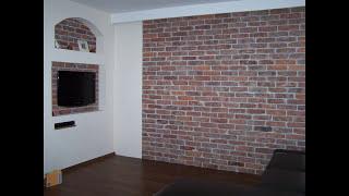 getlinkyoutube.com-Dekoracja na ścianę z starej cegły.