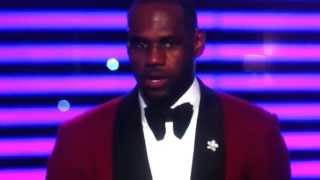 getlinkyoutube.com-LeBron's hilarious acceptance speech at the 2013 Espy's