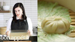 Claire Makes Soup Dumplings   Bon Appetit width=