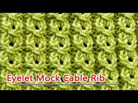 Eyelet Mock Cable Rib