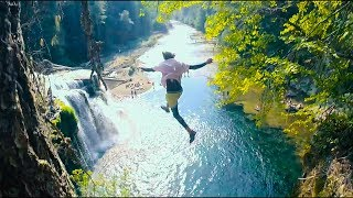 CLIFF JUMPING OFF AMERICA'S MOST BEAUTIFUL WATERFALLS pt1 | 4K