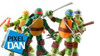 nickelodeon teenage mutant ninja turtles battle shell turtles figures video review