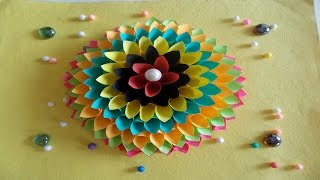 getlinkyoutube.com-DIY Room Decor Ideas : How to Make Paper Crafts Ideas to Decorate Your Home | Diwali Decoration