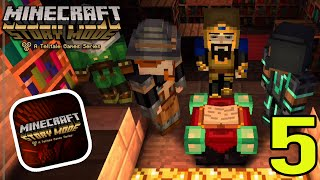 "getlinkyoutube.com-Minecraft Story Mode (iPhone/iOS/Android) Walkthrough Part 5: ""Order of The Stone Temple"" Gameplay"