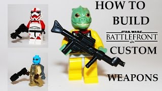 How to build Star Wars Battlefront weapons! LEGO Star Wars MOC