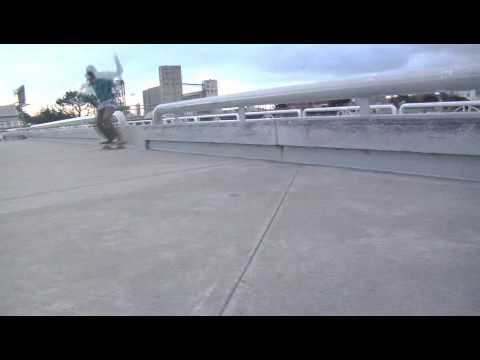 Skateboard Backside 50-50 Trick