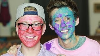 getlinkyoutube.com-Face Painting with #Troyler (ft Tyler Oakley)