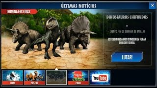 getlinkyoutube.com-Jurassic World - The Game - Dinossauros Chifrudos (Horned Dinosaurs)