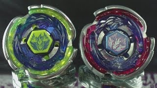 getlinkyoutube.com-Beyblade Cosmic Pegasus F:D (Hasbro) and Big Bang Pegasis F:D (Takara Tomy) The Difference HD!