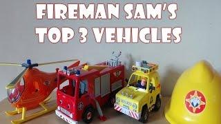 getlinkyoutube.com-Top 3 Firefighter Fireman Sam Toy Vehicles Inc., HOOK HELICOPTER, 4x4 JEEP & JUPITER fire engine