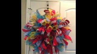 getlinkyoutube.com-Deco Mesh Spiral Wreath