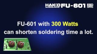 HAKKO FU-500/FU-601; Auto-soldering with super power 300 W for a wide range of applications