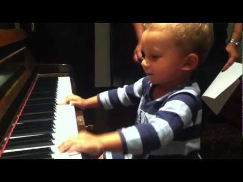 Playing piano like a boss