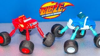 getlinkyoutube.com-BLAZE AND THE MONSTER MACHINE Nickelodeon Monster Morph Blaze Monster Truck Video Toy Unboxing